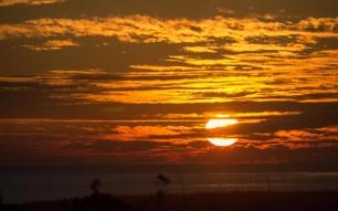 Pacific Ocean Sunset, 12/31/2012