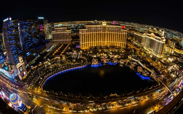 Las Vegas - Bellagio Fisheye View