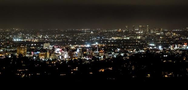 Hollywood and Century City Skyline