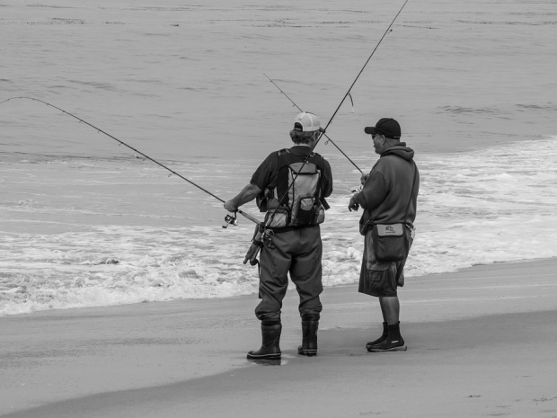 Fishermen at the Beach