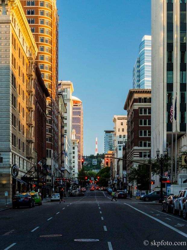 Downtown Portland shot
