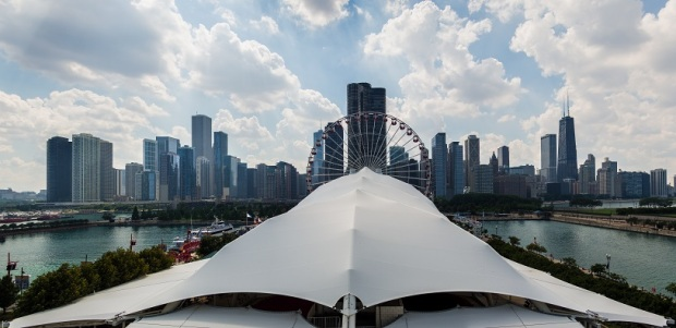 Chicago Skyline from the Navy Pier