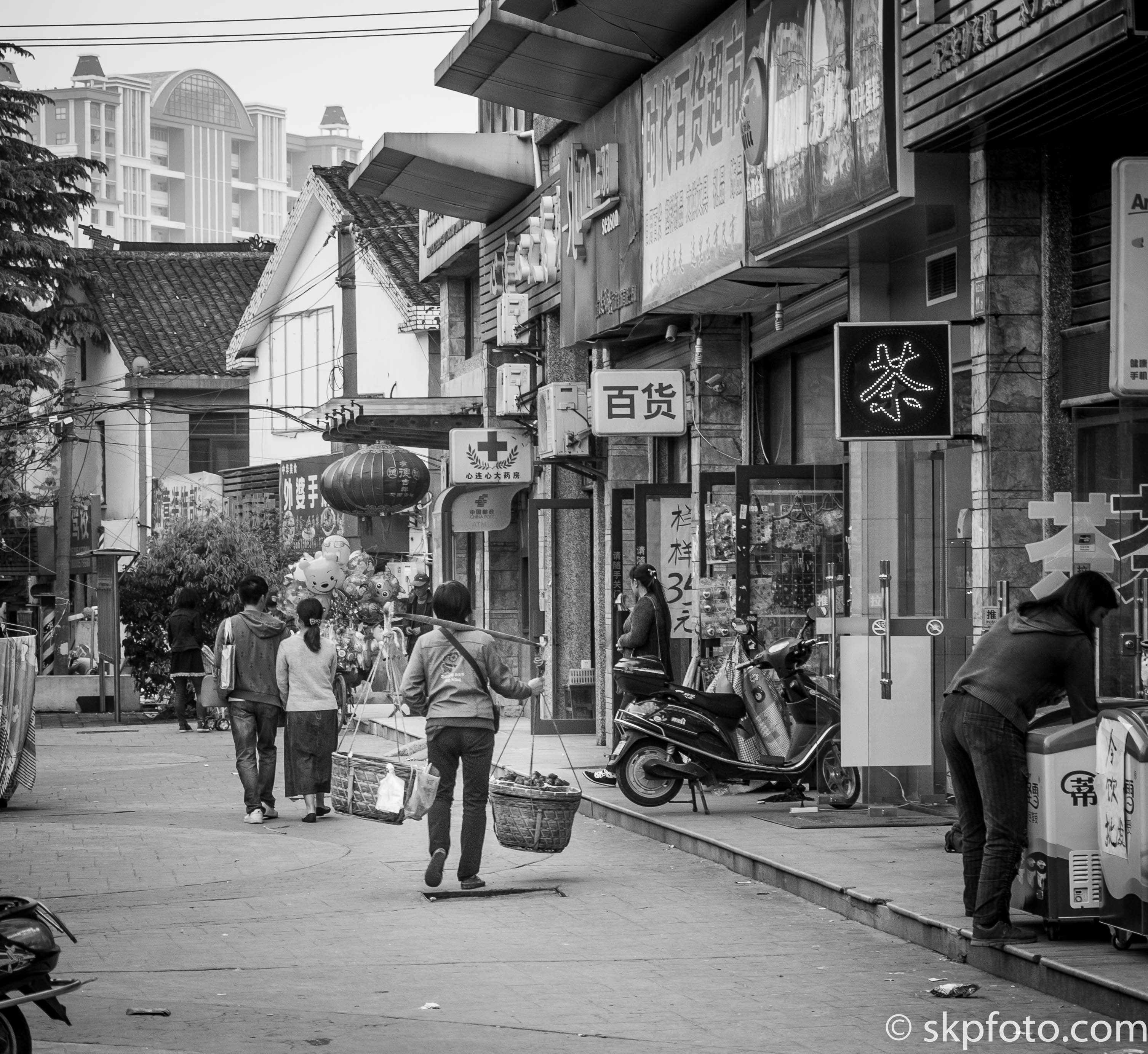 Wuxi Streets in B&W